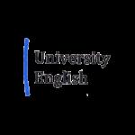 square logo of University English