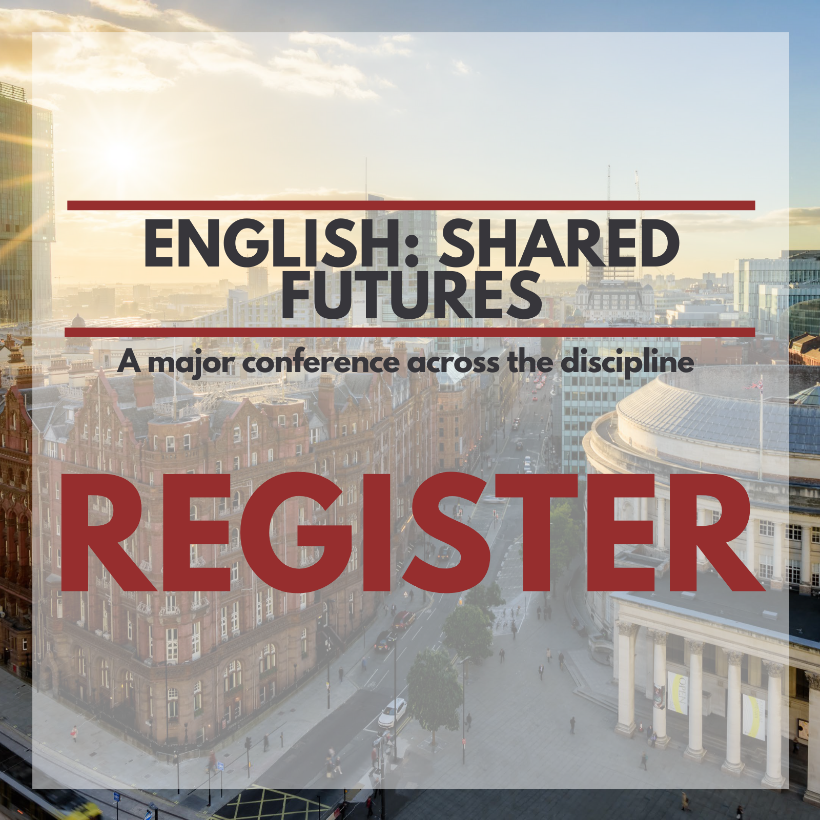 Image of a Manchester skyline for conference registration.